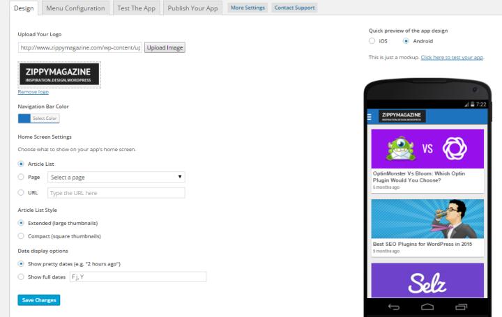 Create a custom design for your app.