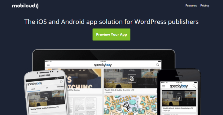 Mobiloud lets you create apps for your WordPress site.