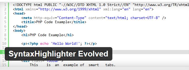 SyntaxHighlighter.