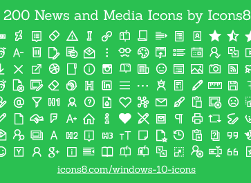 Freebie: 200 News and Media Icons