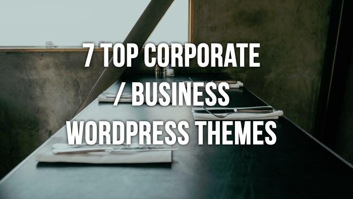 7 business wordpress themes
