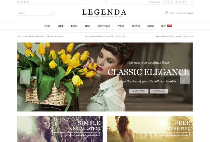 legenda theme