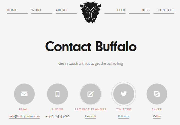 Built by Buffalo - Contact Page Example