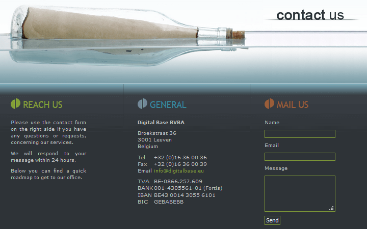 Digital Base - Contact Page Example