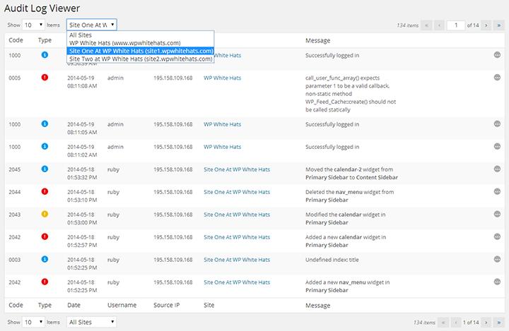 WP Security Audit log new