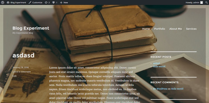 opaque background on image image in the Twenty Sixteen WordPress Theme