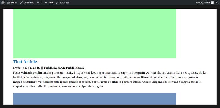 WordPress Portfolio Item With Advanced Custom Fields