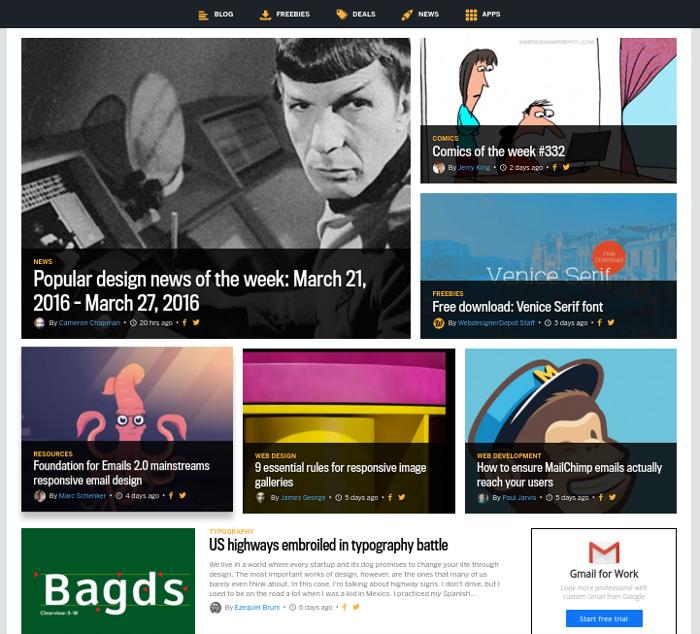 web designer depot homepage