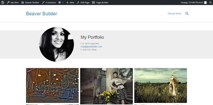 Beaver Builder Portfolio Template - Create Complex Content With WordPress Page Builder Plugins