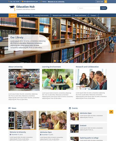 hub di istruzione tema WordPress