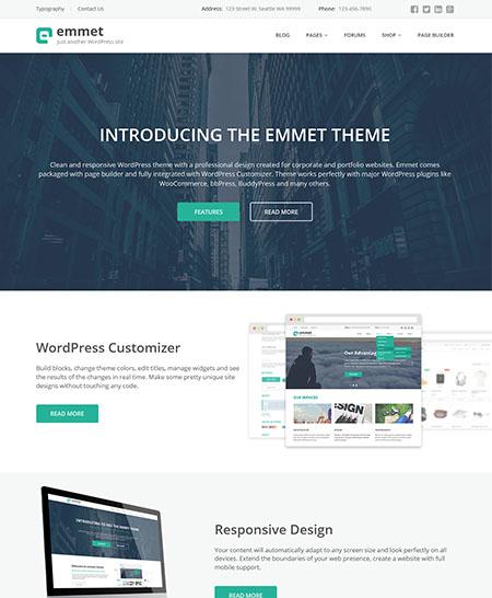 Emmet tema wordpress