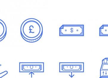 Freebie: Finance Icon Set (SVG, PNG, Sketch, AI)