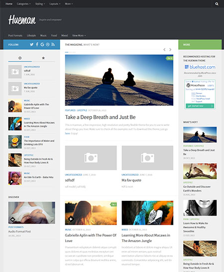 heuman wordpress theme