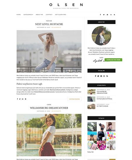 Olsen WordPres di luce a tema