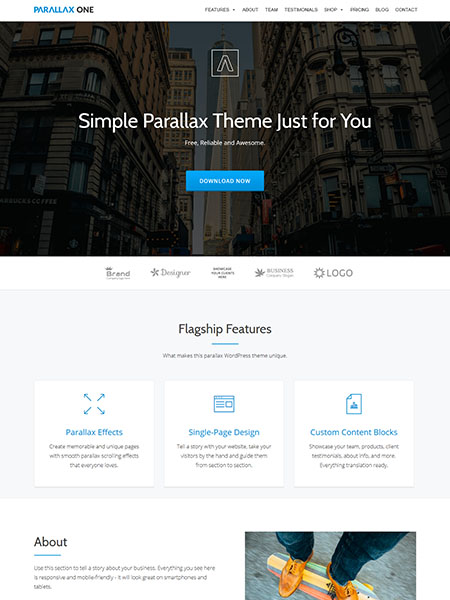 parallax on theme