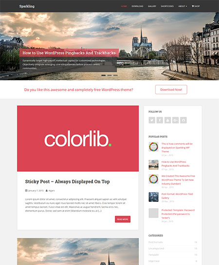 sparkling wordpress theme