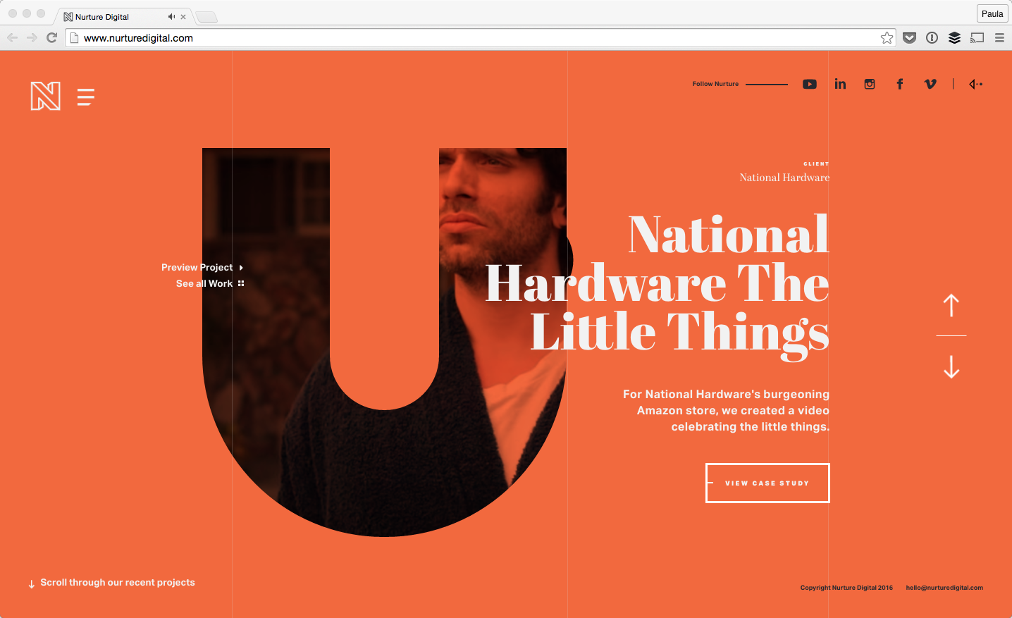 17 websites with typography driven design design bombs