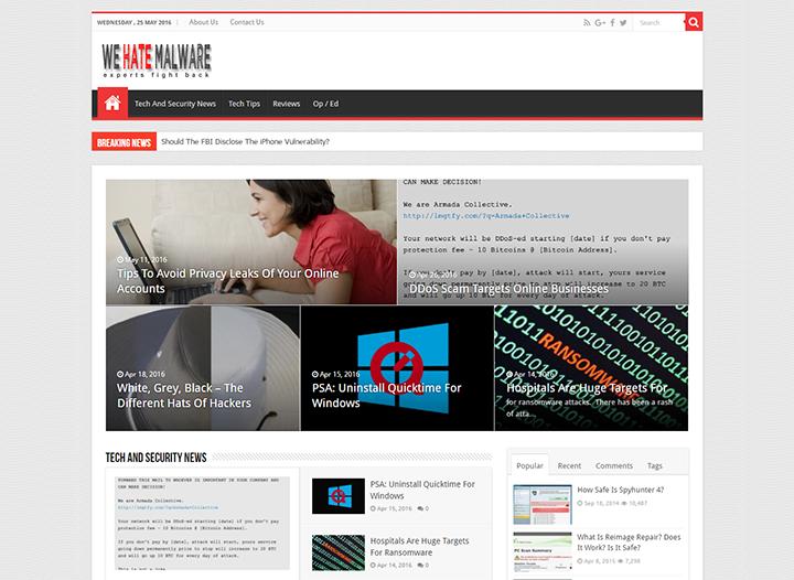 We Hate Malware