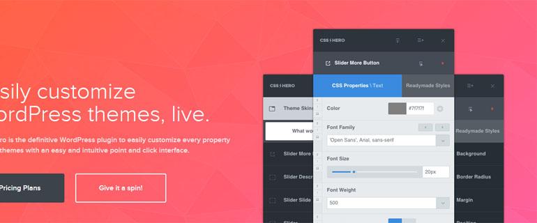 CSS Hero Review: Easily Customize WordPress Themes