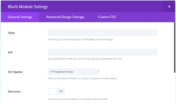 Divi Builder Module General Settings