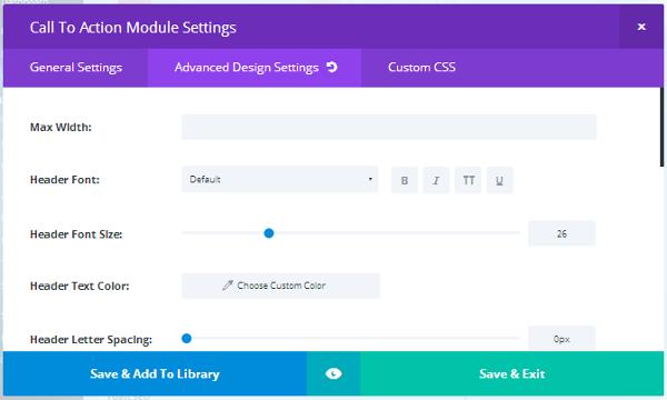 Divi Builder Module Settings