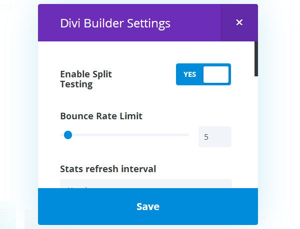Divi Builder Split Testing