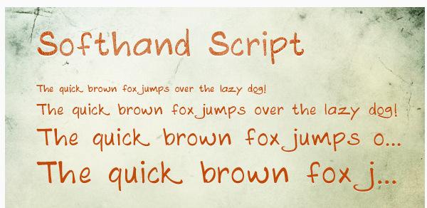 Softhand Script