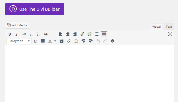 Use Divi Builder