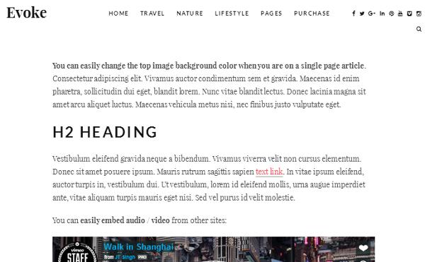 WordPress Themes for Writers Evoke