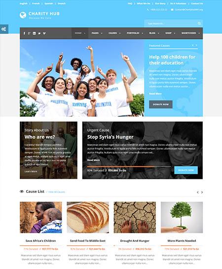 charity hub wordpress theme