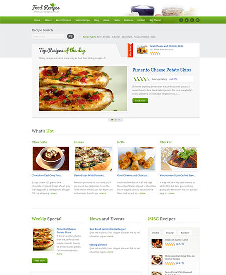 food recipes theme