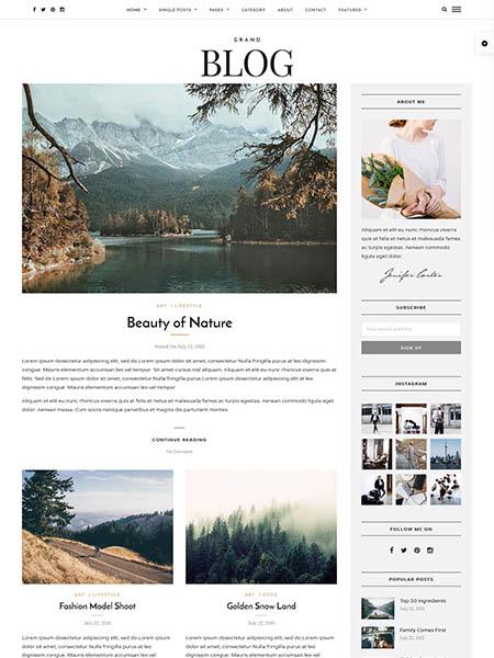 grand-blog theme