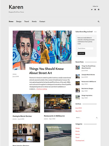 karen wordpress theme