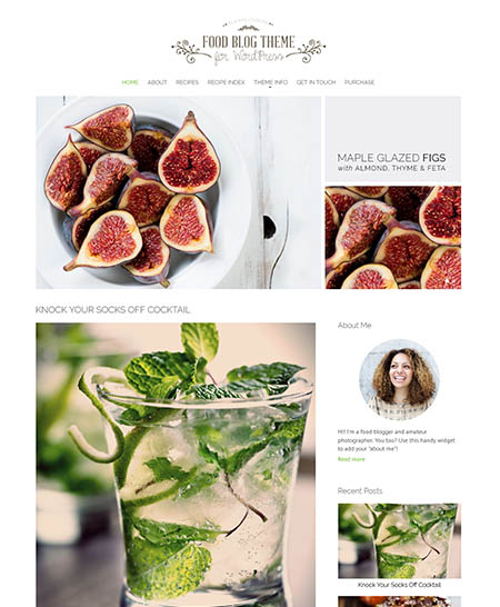 13 best wordpress food blog magazine themes with recipe index 12 food blog forumfinder Choice Image