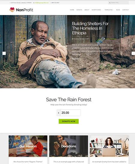 organic non-profit wordpres theme