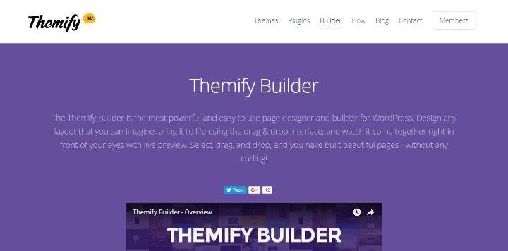 Themify Builder - WordPress Page Builder Plugin Comparison