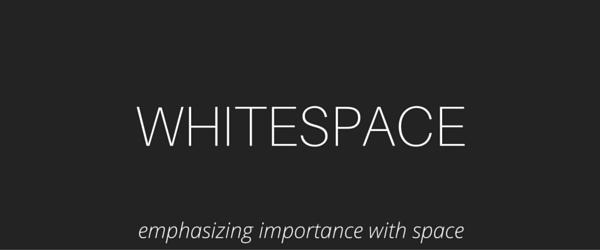 Typography Whitespace