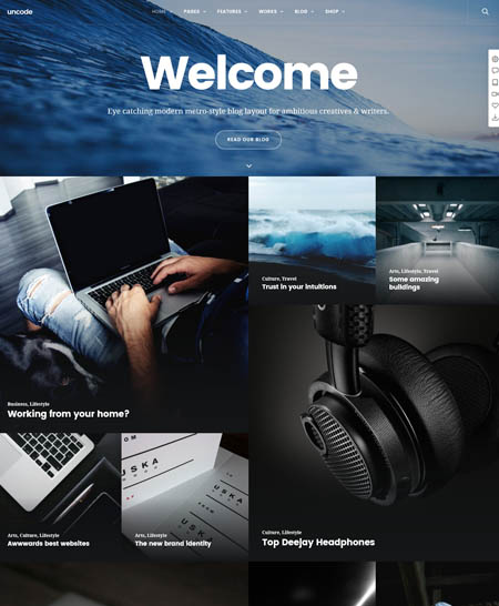 uncode theme wordpress blog