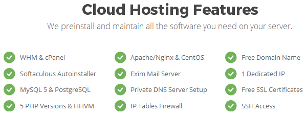 SiteGround - Cloud Hosting Features