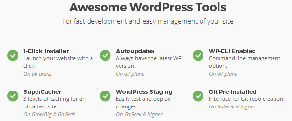 SiteGround - WordPress Tools