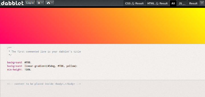 Dabblet Code Sharing Websites