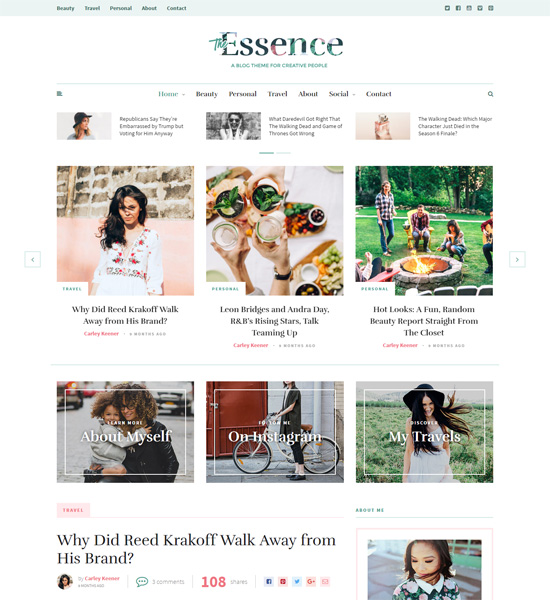 8 Best Clean WordPress Themes For Blogging & Personal Websites