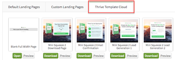 Thrive Content Builder Landing Pages Review Edition - Sample landing page template