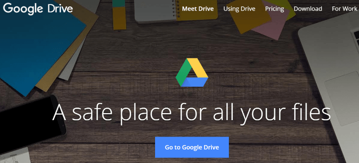 Dropbox Alternatives google drive