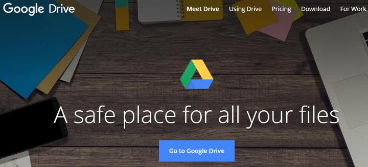 Dropbox Alternatives google drive