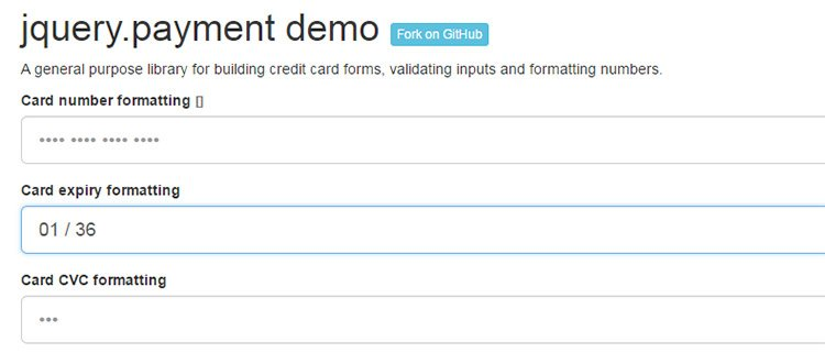jquery payment free plugin