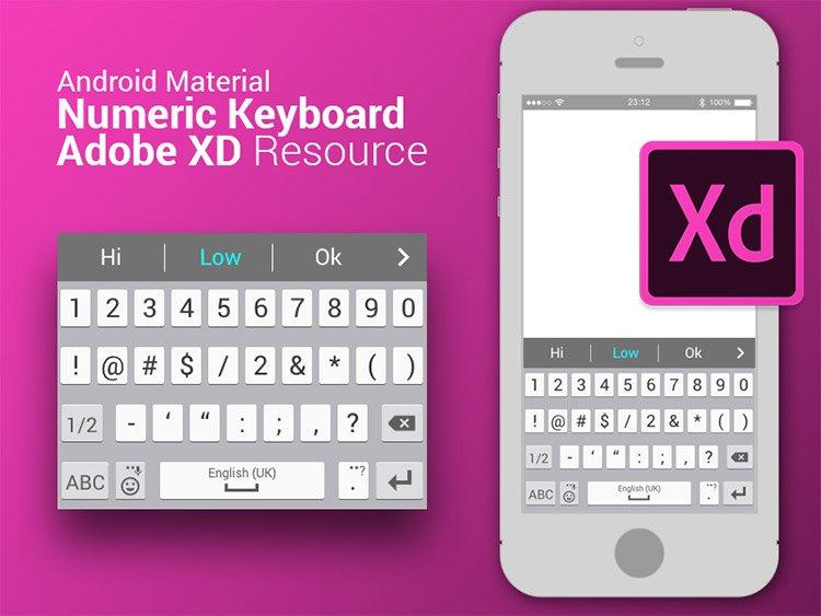android keyboard mockup