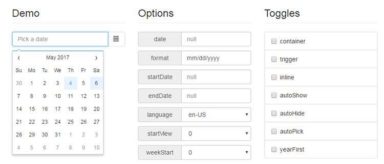 jquery datepicker plugin
