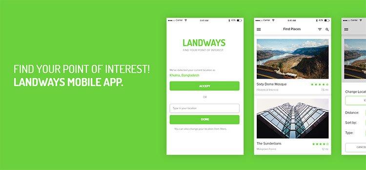 landways app mockup