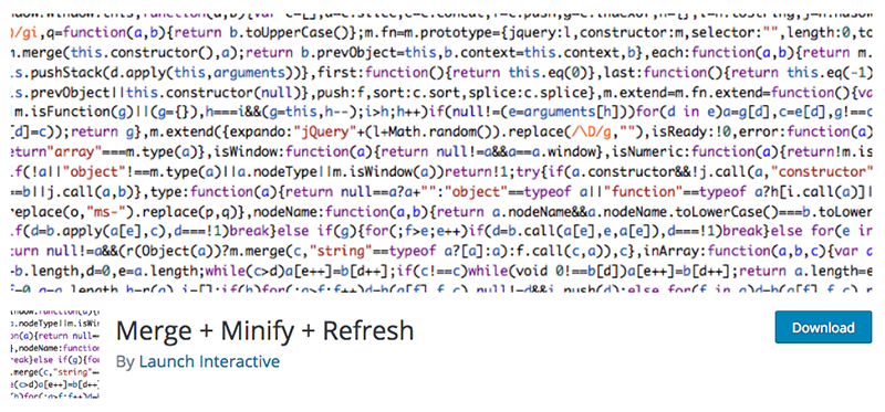The Merge + Minify + Refresh plugin